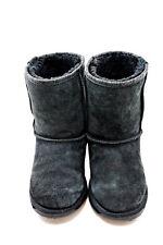 Emu Stinger Lo Black Sheepskin Leather Warm Winter Boots Women's 7