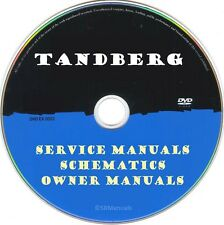 Tandberg Service Manuals & Schematics- PDFs on DVD - Huge Collection