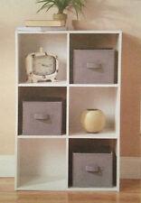 Square Fabric Storage Bin 8x8x8 Mint Seafoam Green Canvas Box Drawer