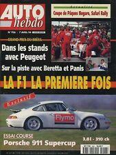 AUTO HEBDO n°926 du 7 Avril 1994 PORSCHE 993 SUPERCUP ALFA 164 Q4 SAFARI RALLY