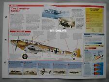 Aircraft of the World Card 13 , Group 12 - Messerschmitt Bf 110