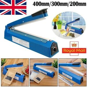 "8/12/16"" Hand Impulse Heat Heating Sealer Plastic Bag Film Sealing Machine UK"