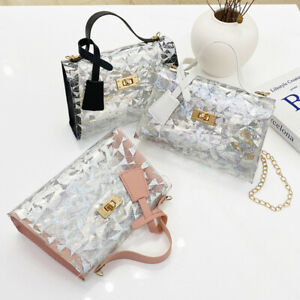 Women Transparent Jelly Candy Summer Beach Handbag Lady Shoulder Bag Wallet