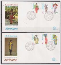 Surinam / Suriname 1980 FDC 39ab Klederdracht costume regional kleidertracht