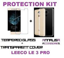 KIT COVER + PELLICOLA VETRO TEMPERATO LEECO LE PRO 3 X720 CASE + TEMPERED GLASS