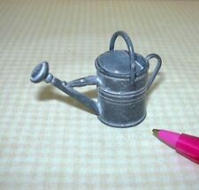 Miniature Quality Aged Metal Watering Can: DOLLHOUSE Garden Miniatures 1/12