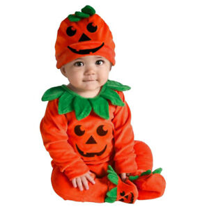 Toddler Kids Baby Girls&Boys Pumpkin Halloween Jumpsuit Playsuit Rompers Outfits