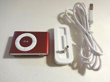 APPLE  iPOD  SHUFFLE  2ND GEN.  RED  2GB...NEW BATTERY...
