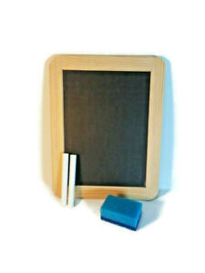 "Waddle Wee Do 5"" x 7"" Double Sided Wood Framed Slate Chalkboard Brand New"