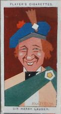 Single: No.35 SIR HARRY LAUDER - STRAIGHT LINE CARICATURES - John Player 1926