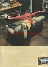 "Sony Walkman Mini Disc ""Sofa"" 1999 Magazine Advert #7812"