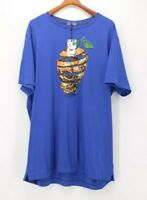 Robert Graham Men's 2XLT XXLT Blue Skull Graphic T Shirt NEW NWT $59