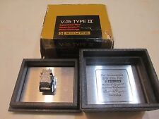 SHURE V15 TYPE III CART & GENUINE SHURE VN35E STYLUS + BLACK DISPLAY CASE IN BOX