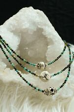 GORGEOUES 925 SOLID SILVER NATURAL AFRICAN TURQUOISE FACETED STONE NECKLACE