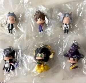 Katekyo Hitman Reborn set of 6 Mini Figure Keychains Bundle Manga Anime