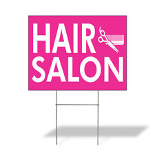 Weatherproof Yard Sign Hair Salon Outdoor Advertising Printing A Lawn Garden