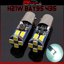 H21W BAY9S 435 LED Ampoules Blanches Lumineuses Canbus STOP Feux de Freinage