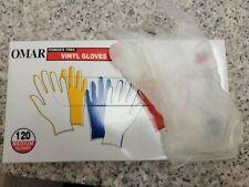 120pcs Omar Vinyl Latex Free Gloves Powder Free Medium M Bulk Discount