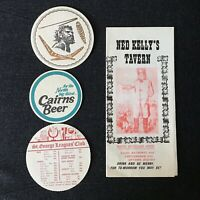 Lot 4 items Sydney Australia Tavern Bar Pub Ephemera Menu Coasters 1960s-1970s