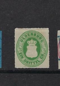 Allemagne OLDENBURG n° 15 NEUF signé sans gomme/ungummed/ungummiert 1862