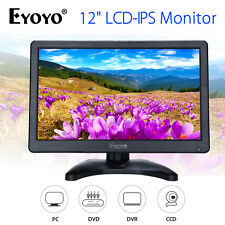 EYOYO 12 inch IPS LCD Color Monitor Display Screen HDMI VGA AV For DVD PC CCTV