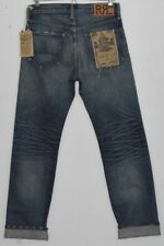 RRL RALPH LAUREN distressed AMERICAN Selvedge denim Straight Leg jeans 30 x 34