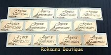 15  Etiquettes  JOEYEUX ANNIVERSAIRE stickers autocollantes or