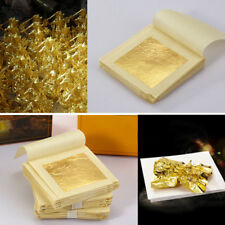 10x Gold Foil Leaf 99.99% Pure 24K Food Decor Edible Face Beauty Gilding 1.7""