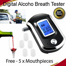 Digital LCD Alcohol Breath analizador portátil Detector breathanalyzer Probador UK