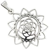 Mandala Lebensblume Silber Anhänger Blume des Lebens Esoterik Schmuck b477
