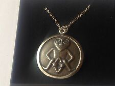 "Sheela Na Gig DR96  Made From Pewter On 20"" Silver Plated Curb Necklace"