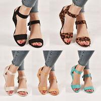 US Women Wedge Heel Sandals Buckle Ankle Strap Peep Toe Summer Casual Party Shoe