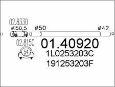 TUYAU D'éCHAPPEMENT POUR VW VENTO 1.9 D,PASSAT 1.8,GOLF III 1.9 D,GOLF II 1.6