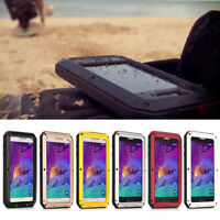 Waterproof Gorilla Glass Metal Aluminum Case For Samsung Galaxy S6 / S5 /S4 Hot