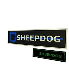 glow dark sheepdog thin blue line PVC rubber 3D law parche fastener patch