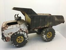 VTG LARGE TONKA TURBO DIESEL METAL DUMP TRUCK, XMB-975 (PARTS OR RESTORATION)