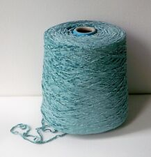 Chenille Yarn 100% Rayon In New Teal Turquoise Crochet Weaving 1000 Ypp #Dr622