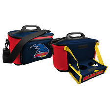 Adelaide Crows AFL Lunch Cooler Bag With Drink Tray Table Insulated Work Picnic