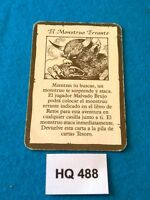 Heroquest/RPGWarhammer Quest - Carta de Tesoro, El Monstruo Errante - HQ488