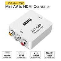 AV2HDMI Composite AV CVBS 3RCA to HDMI 4K Converter Adapter Video Upscaler HD