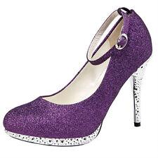 5 Colors Women Glitter Straps Buckle Dress Prom Evening Wedding Bridal Shoes