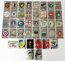 Panini WM 2010 - Set 40 Glitzersticker / Wappen komplett