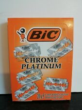 BIC CHROME PLATINUM  5/10/25/50/100  DE razor blades UK stock