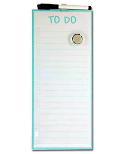 Magnetic Dry Wipe Board Things To Do Check List  Appointments Memo Message Board