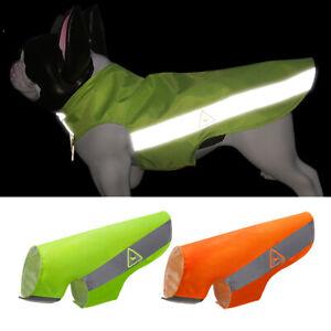 Pet Dog Reflective Safety Vest Hi Vis Viz Jacket Clothes Small Large Dogs XX-5XL