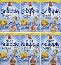 "DIET SNAPPLE ""Sweet Tea"" Singles to go 6 sticks per Pack (Pack of 6), New, Free"