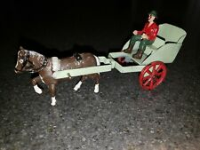 Vintage Britains, Triang?  Horse and Buggy w/ Driver Diecast Toy