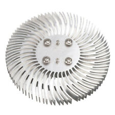 Round Spiral Aluminum Heat Sink Radiator for 10w High Power LED Lamp 90x10mm