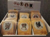 Mouseloft Mini Cross Stitch Kits - Dogs - Paw Prints Collection