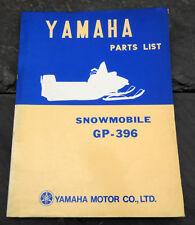 Original 1971 Yamaha GP-396 Snowmobile Parts List/Manual GP396